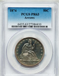 Proof Seated Half Dollars, 1874 50C Arrows PR63 PCGS....