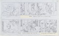 "Original Comic Art:Panel Pages, Jack Kirby Fantastic Four Animated Cartoon Storyboard ""TheFrightful Four"" Page 3 Original Art (DePatie-Freleng, 1..."