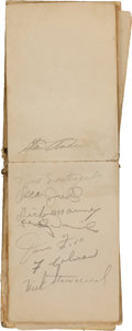 Autographs:Others, 1940's Baseball Stars Signed Autograph Book with Foxx (2), Ott....