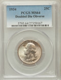 Washington Quarters, 1934 25C Doubled Die Obverse MS64 PCGS. FS-101....