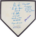 "Autographs:Others, Circa 2000 Baseball Record Holders Signed ""Stat"" Home Plate...."