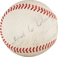 Autographs:Baseballs, 1951 Hall of Famers Multi-Signed Baseball with Cobb, Collins....