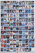 Baseball Cards:Sets, 1984 Fleer Update Baseball Complete Set Uncut Sheet....