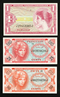 Military Payment Certificates:Series 641, Series 641 25¢; 50¢; $1 Gem New.. ... (Total: 3 notes)