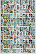Baseball Cards:Sets, 1973 Topps Baseball High # 132-Card Uncut Sheet - Two SchmidtRookies!...