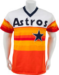 Baseball Collectibles:Uniforms, Mid-1980's Nolan Ryan Game Worn Houston Astros Jersey....