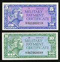 Military Payment Certificates:Series 611, Series 611 5¢; 10¢ Very Choice New. . ... (Total: 2 notes)
