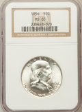 Franklin Half Dollars: , 1956 50C MS65 NGC. NGC Census: (1922/1796). PCGS Population(1763/598). Mintage: 4,000,000. Numismedia Wsl. Price for probl...