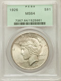 Peace Dollars: , 1926 $1 MS64 PCGS. PCGS Population (3575/1370). NGC Census:(3117/748). Mintage: 1,939,000. Numismedia Wsl. Price for probl...