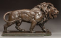 American, LOUIS AMATEIS (American, 1855-1913). Lion, 1887. Bronze withgreenish-brown patina. 28 inches (71.1 cm) high. Signed, in...