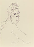 American, JOHN GRAHAM (American, 1886-1961). Untitled G-36 (Nude),circa 1940s. Ballpoint pen on paper. 12 x 9 inches (30.5 x 22.9...