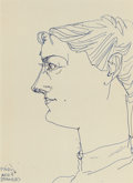 American, JOHN GRAHAM (American, 1886-1961). Untitled G-43(double-sided), 1943. Ballpoint pen on paper . 14 x 10 inches(35.6 x 2...
