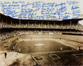 Baseball Collectibles:Photos, Brooklyn Dodgers Multi Signed Oversized Photograph....