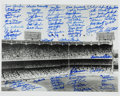 Baseball Collectibles:Photos, New York Yankees Greats Multi Signed Oversized Photograph....