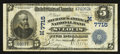 National Bank Notes:Missouri, Saint Louis, MO - $5 1902 Date Back Fr. 590 The Mechanics-AmericanNB Ch. # (M)7715. ...