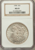 Morgan Dollars: , 1900 $1 MS65 NGC. NGC Census: (4307/593). PCGS Population(3494/590). Mintage: 8,830,912. Numismedia Wsl. Price forproblem...