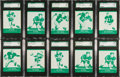 Football Cards:Sets, 1961 Lake To Lake Packers SGC Graded Collection (24)....