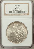 Morgan Dollars, 1900 $1 MS65 NGC. NGC Census: (4307/593). PCGS Population(3494/590). Mintage: 8,830,912. Numismedia Wsl. Price forproblem...