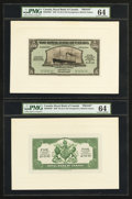 Canadian Currency: , Georgetown, British Guiana- The Royal Bank of Canada $5 (£1-0-10)January 3, 1938 Ch. # 630-38-02P Face/Back Proofs . ... (Total: 2notes)