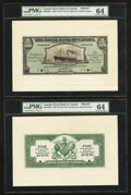 Canadian Currency: , Georgetown, British Guiana- The Royal Bank of Canada $5 (£1-0-10)January 2, 1920 Ch. # 630-36-02P Face/Back Proofs . ... (Total: 2notes)