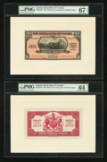 Canadian Currency: , Georgetown, British Guiana- The Royal Bank of Canada $20 (£4-3-4)January 3, 1938 Ch. # 630-38-02P Face/Back Proofs. ... (Total: 2notes)