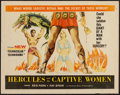 "Movie Posters:Action, Hercules and the Captive Women and Other Lot (Woolner Brothers, 1963). Half Sheets (2) (22"" X 28"") and (20.5"" X 27""). Action... (Total: 2 Items)"