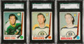 Hockey Cards:Lots, 1969/70 O-Pee-Chee Hockey SGC 98 Gem 10 Trio (3). ...
