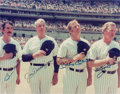 Autographs:Photos, Circa 1980 Yankee Legends Multi-Signed Photograph with DiMaggio,Mantle....