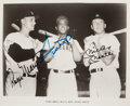 Autographs:Photos, Early 1980's Roger Maris, Willie Mays & Mickey Mantle Signed Photograph....
