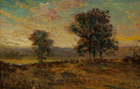 JULIAN ONDERDONK (American, 1882-1922) Twilight, 1909 Oil on wood panel 6 x 9 inches (15.2 x 22.9