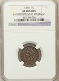 Indian Cents, 1868 1C -- Environmental Damage -- NGC Details. XF. NGC Census:(17/371). PCGS Population (50/344). Mintage: 10,266,500...