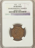 Half Cents, 1832 1/2 C -- Environmental Damage -- NGC Details. XF. NGC Census:(8/281). PCGS Population (23/351). Mintage: 154,000....