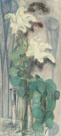Texas:Early Texas Art - Modernists, BILL BOMAR (American, 1919-1991). Lilacs and Glasses (latertitled White Flowers), circa 1953. Oil on canvas. 44 x 20 in...