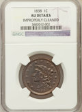 Large Cents, 1838 1C -- Improperly Cleaned -- NGC Details. AU. NGC Census:(15/563). PCGS Population (43/416). Mintage: 6,370,200. N...