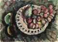 Texas:Early Texas Art - Modernists, VERONICA HELFENSTELLER (American, 1910-1964). Still Life withFruit. Watercolor on paper (image). 11-1/4 x 15-1/2 inches...