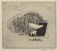 Texas:Early Texas Art - Drawings & Prints, VERONICA HELFENSTELLER (American, 1910-1964). Untitled.Etching with drypoint. 4-1/2 x 5 inches (11.4 x 12.7 cm) (image)...