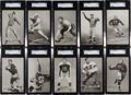 Football Cards:Sets, 1948-52 W468 Football Exhibit Partial Set (32/59) With Many HoFersand Short Prints. ...