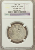 Seated Half Dollars, 1889 50C -- Damaged -- NGC Details. Good. NGC Census: (1/106). PCGSPopulation (1/166). Mintage: 12,000. Numismedia Wsl...
