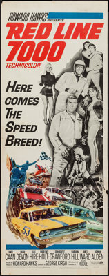 """Red Line 7000 (Paramount, 1965). Insert (14"""" X 36""""). Sports"""