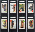 "Non-Sport Cards:Sets, 1950's F378 Doeskin ""Rails and Sails"" SGC-Graded Collection (13)...."