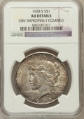 Peace Dollars, 1928-S $1 -- Obv Improperly Cleaned -- NGC Details. AU. NGC Census:(99/4349). PCGS Population (147/5695). Mintage: 1,6...