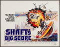 "Movie Posters:Blaxploitation, Shaft's Big Score! (MGM, 1972). Half Sheet (22"" X 28""). Blaxploitation.. ..."