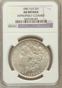 1882-O/S $1 -- Improperly Cleaned -- NGC Details. AU. NGC Census: (253/3201). PCGS Population (169/2215). Mintage: 1,03...