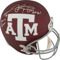 """Football Collectibles:Helmets, 2012 Johnny Manziel """"Johnny Football"""" Signed, Inscribed Texas A&M Aggies Full Sized Helmet...."""
