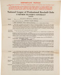 Autographs:Others, 1946 Stan Musial Signed Uniform Player's Contract--MVP & WorldChampionship Season!...