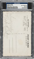 Autographs:Post Cards, 1930's Babe Ruth Signed Postcard....