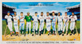 Autographs:Others, 1988 500 Home Run Club Signed Poster. ...