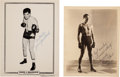 Boxing Collectibles:Memorabilia, 1934-60's Max Baer & Jim Braddock Signed Photographs....