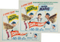 "Autographs:Others, 1962 ""Safe at Home"" Movie Posters (2), One Signed by MickeyMantle...."
