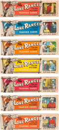 "Non-Sport Cards:Sets, 1950's Ed-U-Cards ""Lone Ranger"" Near Set (35/40 Panels) - InOriginal Display Boxes! ..."